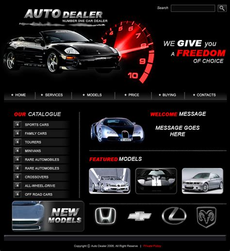 car dealer email templates car dealers web template by coolitz07 on deviantart