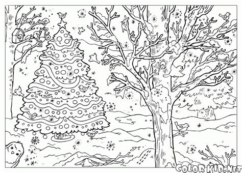 snow landscape coloring page free coloring pages of winter landscape