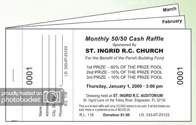 Monthly Drawing Raffle Ticket Books Fundraising Ticket Booklet Template