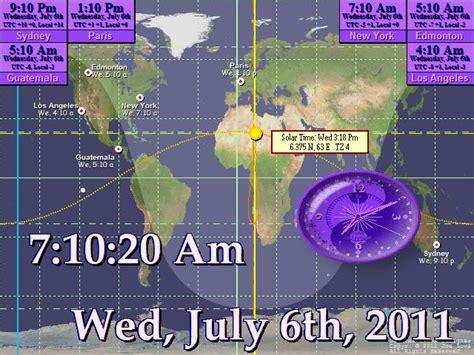 full screen digital clock software  pc desktop alarm world day night map  world earth large