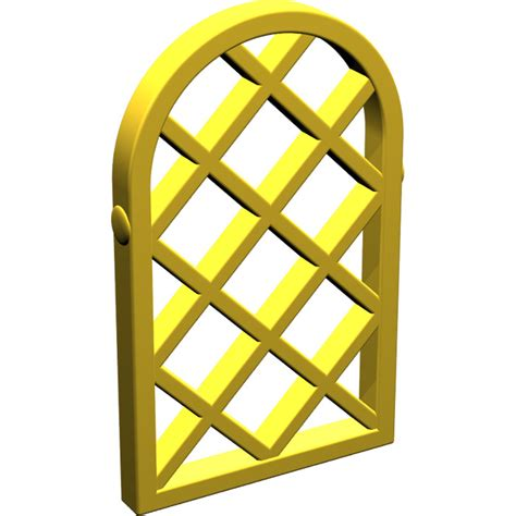 Lego Part Yellow Window 1 X 2 X 3 Pane With Thick Corner Tabs lego yellow window 1 x 2 x 2 667 pane lattice with rounded top brick owl lego
