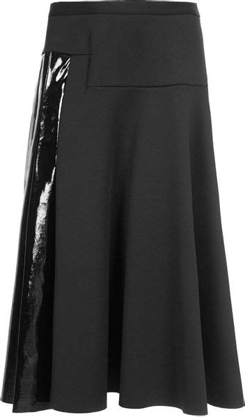 topshop neoprene midi skirt by unique in black lyst