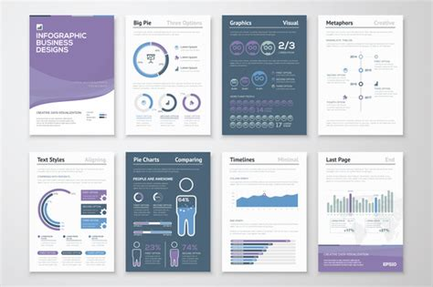 infographic brochure template infographic brochure elements 6 presentation templates