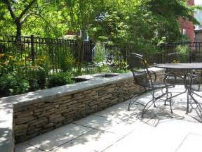 Fieldstone Patios by Fieldstone Seat Wall Contemporary Patio Boston By