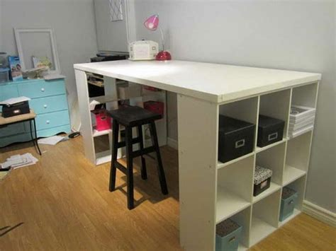 craft table with storage image gallery ikea craft table