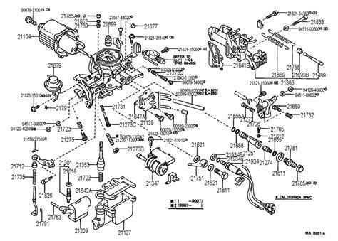 1989 Toyota Corolla Carburetor Diagram 1988 Toyota Corolla Carburetor Diagram Best Free