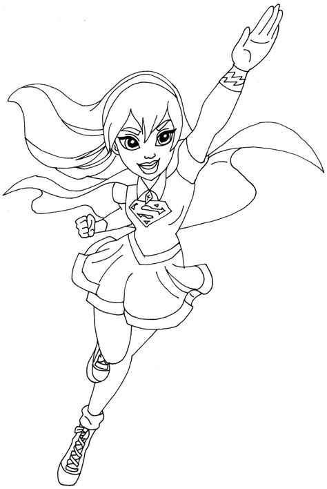 superhero coloring pages nick jr free printable super hero high coloring page for supergirl
