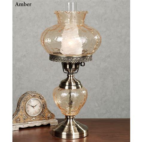 glass globe table kenzie crackle glass globe hurricane table l