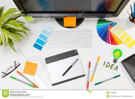 color designer graphic designer at work color sles stock image