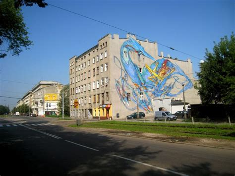 Wall Mural Artists street art mural by shida in lodz poland during the