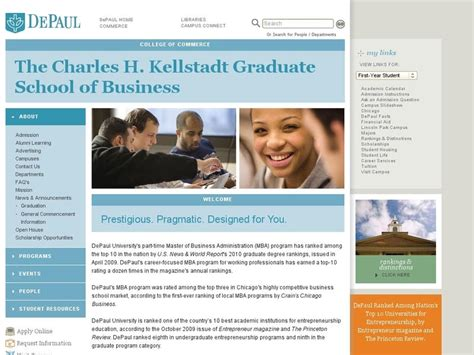 Depaul Finance Mba by Depaul Charles H Kellstadt Graduate School Of