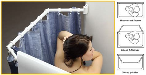 pop up shower curtain extend a shower bigger shower curtain rod travel trailer