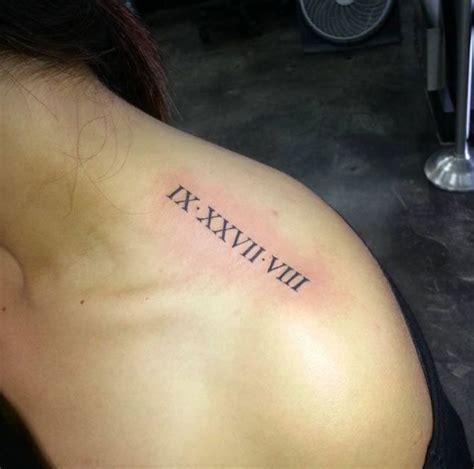 1001 id 233 es tatouage chiffre romain des chiffres et