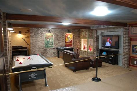 cool finished basements main street basement finish so want to add brick to the