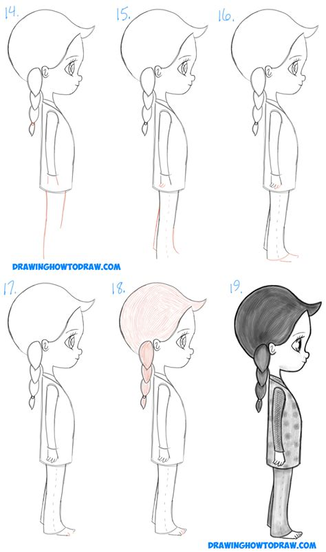 how to draw a simple anime girl step by step anime how to draw a cute chibi manga anime girl from the