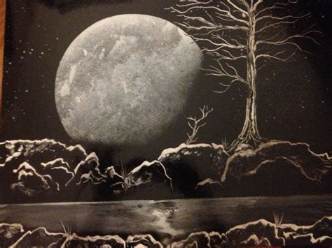 spray paint moon original painting spray paint black and white moonlight