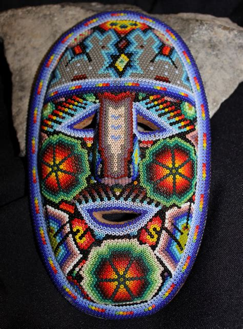 how to make a bead mask huichol beaded mask