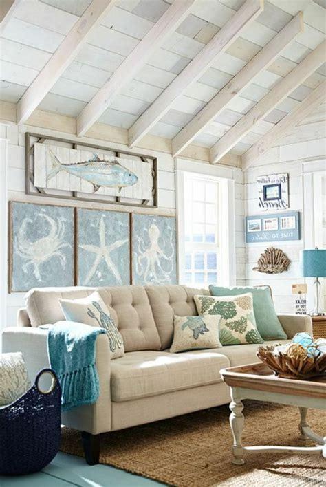 strand wohnzimmer ideen 1001 ideen und inspirationen f 252 r maritime deko basteln