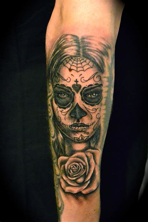 dead rose tattoos day of the dead tattoos designs ideas and meaning