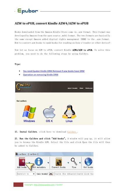Kindle Ebook Format Azw | convert kindle azw to epub