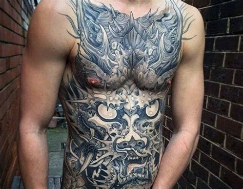 abdomen tattoos for men top 100 best stomach tattoos for masculine ideas