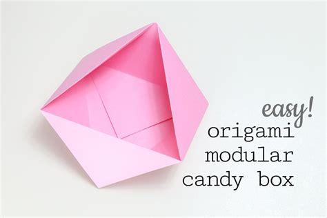 Origami Chocolate Box - easy origami box