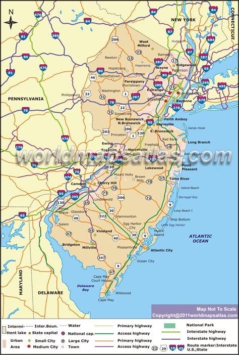 road map new jersey usa atlas wallpaper new jersey wallpapersafari