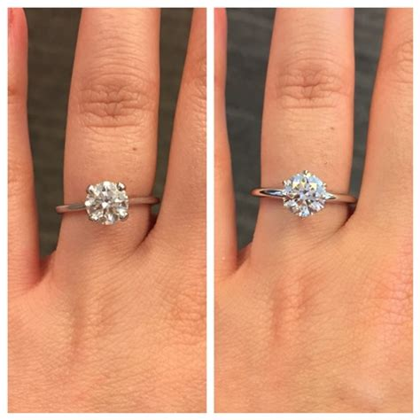 reset my ring! 4 prong to 6 prong solitaire weddingbee