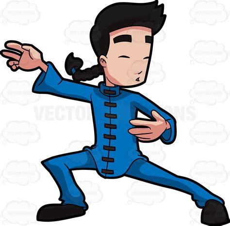 tai chi clip art a chinese man doing tai chi cartoon clipart vector toons