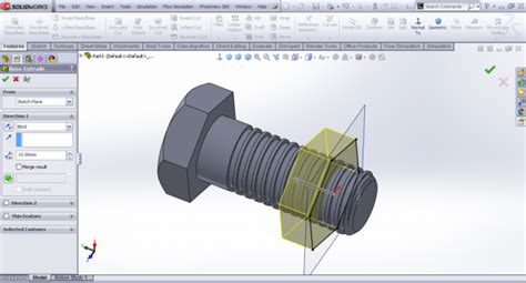 solidworks tutorial grabcad how to model a square cut nut in solidworks