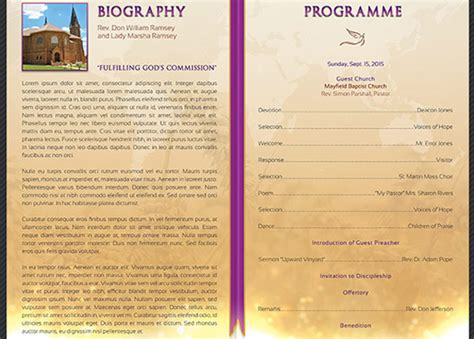 Clergy Anniversary Service Program Temp Design Bundles Church Anniversary Program Template