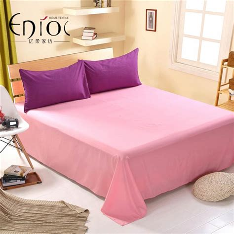 quality bed linens 1pcs high quality solid color bedding flat sheet bed