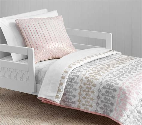 Quilted Toddler Bedding by Margot Belgian Flax Linen Quilted Toddler Bedding Pottery Barn