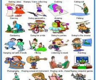 imagenes de hobbies en ingles hobbies and leisure activities
