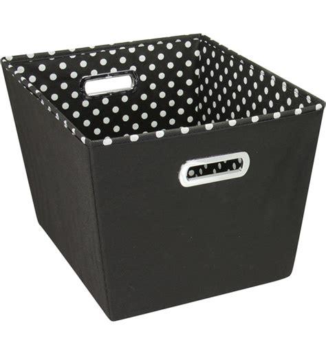 decorative storage bins decorative storage bin black in shelf bins