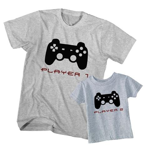 T Shirt Gamer 2 and t shirt gamer player 1 player 2 clotee