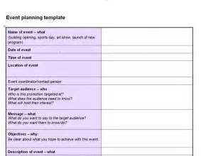 planning an event template event planning checklist template