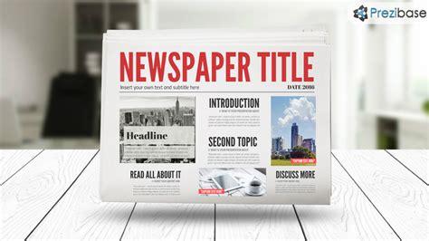 Prezi Newspaper Template 3d Newspaper Prezi Template Prezibase