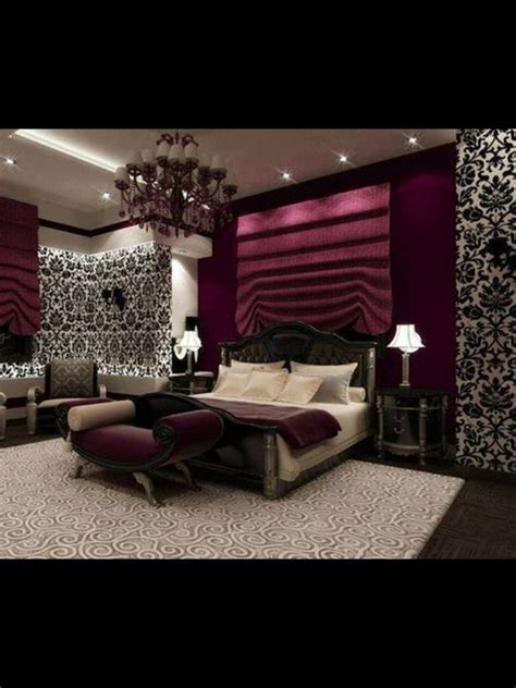 plum bedroom ideas love this such a romantic bedroom with black and white