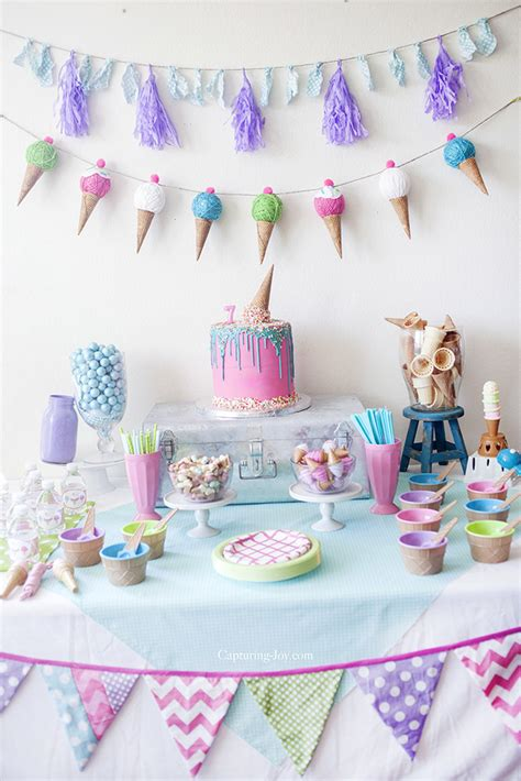 table decoration ideas for birthday party kids ice cream birthday party capturing joy with kristen