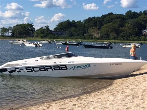 wellcraft scarab racing boats 1995 wellcraft scarab powerboat for sale in new york