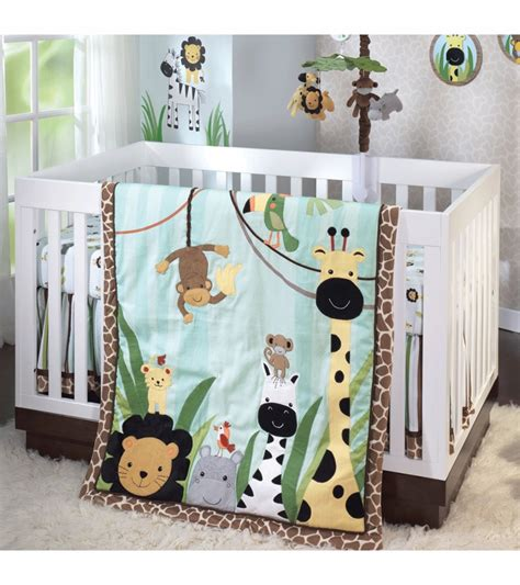 lambs and ivy crib bedding lambs ivy peek a boo jungle 5 piece crib bedding set
