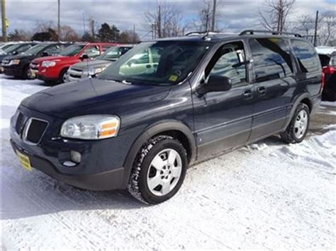2008 pontiac montana sv6 for sale in toronto 2008 pontiac montana sv6 automatic extended third row seating blue j p motors wheels ca
