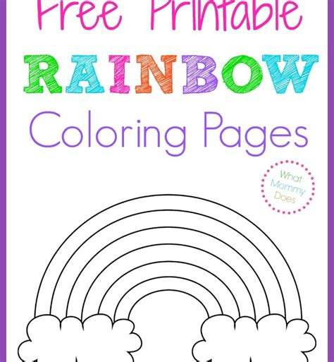 reading rainbow coloring page kid activities what mommy does