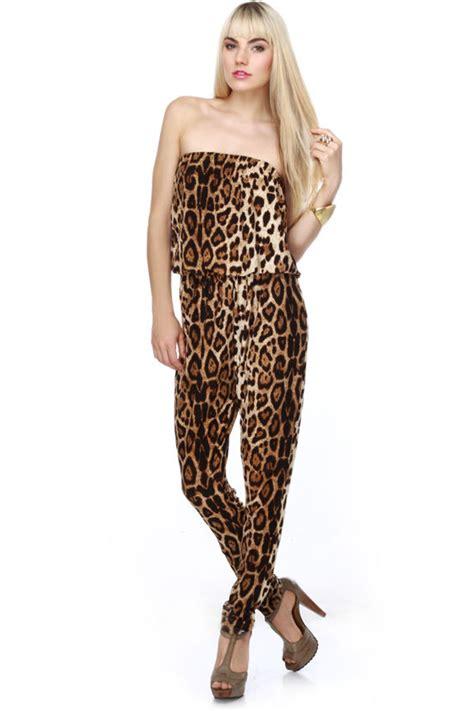 Jumpsuit Leopart leopard print jumpsuit strapless jumpsuit 39 00
