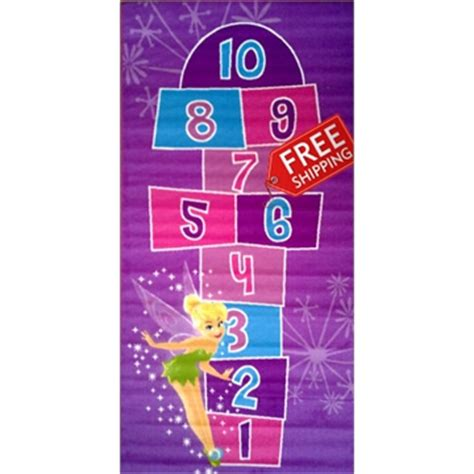 tinkerbell hopscotch rug activity rug