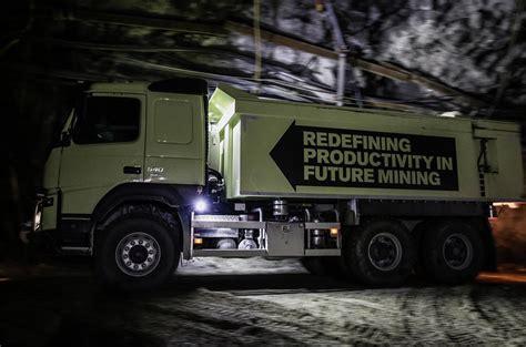 volvo tests self driving truck in an underground mine