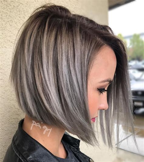 styling a swing bob 60 cute and easy to style short layered hairstyles gray