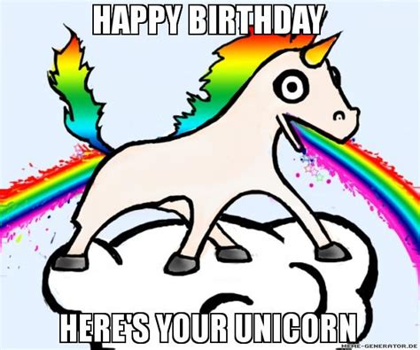 Unicorn Rainbow Meme - birthday unicorn meme pictures to pin on pinterest pinsdaddy