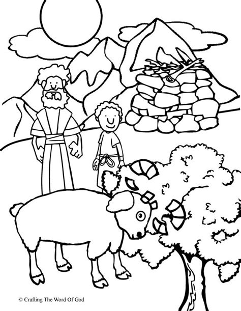 Coloring Page Isaac And Abraham by Abraham Offers Isaac Coloring Page 171 Crafting The Word Of God